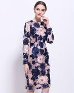 【予約商品】レディースサテンリボン刺繍ドレス