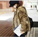 【アウター】長袖フェイクファー秋冬ファッションコート15358313