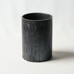 Roughness Black Cylinder Pot(LARGE)