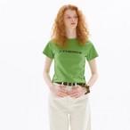 「PCC」カラー クロップド Tシャツ グリーン