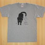 Tシャツ「黒猫」ヘザーグレー