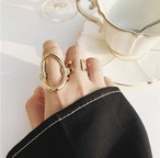 Oval gold ring (オーバル ゴールドリング)