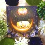 絵画 インテリア アートパネル 雑貨 壁掛け 置物 おしゃれ  アクリル画 パステル画 夢 水彩画 ロココロ 画家 : Satoko Rin 作品 : 夢で逢えたら