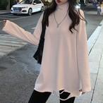 【tops】着やせ韓国ファッション2色チュールトップス25603957