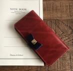 鏡・クリアポケット付き収納たっぷり3段カード 革の宝石ルガトーの着せ替えリボンiPhoneケース iPhoneXs ・XsMax ・XR iPhone全機種