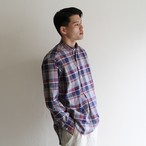 GRANDAD SHIRTS【 mens 】check band collar shirts