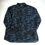 ☆SALE コーデュロイカモフラプリント ワークシャツ