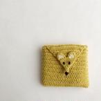 かぎ針編みのミニポーチ・きつね