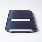藍染め革のスマホケース【spot/すぽっと】 #全機種対応 #草木染めレザー #手縫い #手染め