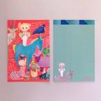 POST CARD「トリ笛WO吹く女の子」no.138