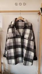 チェックもこもこジャケット チェックジャケット ジャケット  韓国ファッション