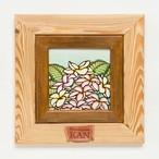 Art  【Plumeria・ダブルフレーム ナチュラル&ブラウン】