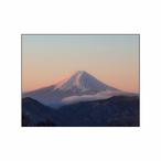 「夜明けのピンク富士」フォトパネル(W23×H18cm)