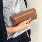 薄くて軽くて大容量な長財布 14ZipWallet 牛革 カフェモカブラウン Squeeze 日本製