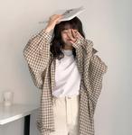 【送料無料】ビックシルエット チェック柄シャツ
