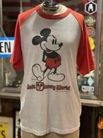 80s ビンテージ ミッキー ラグラン tシャツ ヘインズ アメリカ USA製 ディズニーワイルド