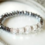 テラヘルツ 宝石質水晶 八角形 15・16・17・18mm ブレスレット