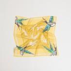 Organic Cotton 'canopy' Lemon リング付きミニスカーフ