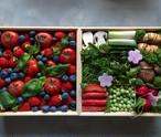京の野菜重とフルーツトマト木箱 二段重