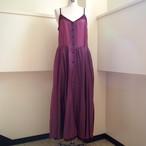 【hippiness】cupro corset dress(purple×purple)/ 【ヒッピネス】キュプラ コルセット ドレス(パープル×パープル)