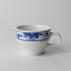 【1970-4160】強化磁器 コーヒーカップ 白×ブルー