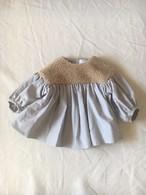 boa gather blouse ベージュボア*グレー Sサイズ