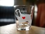 イングリッシュコッカー彫刻グラス(ハート&クローバー)