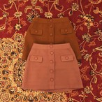 【残り1点】retro button skirt