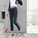 lace up skinny jeans 2574