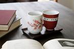 温度をデザインに。 温感桜&手書きの赤巻き湯呑セット *丸モ高木陶器* お酒をより楽しむためのおしゃれな酒器!
