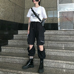 【ボトムス】ストリート系ジッパーセンターセパレートパンツ