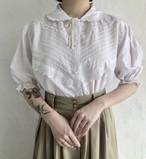 90's vintage cutwork lace blouse.
