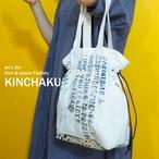 3日21時販売開始【Original Art Fabric】巾着バッグ ILL-bag-01