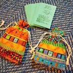 お手製 龍体文字カード 70枚 巾着ケース付き 古代文字 神代文字 オラクルカード ソフトケース付き