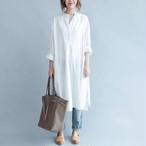 白シャツ カバーオール ワンピース シャツワンピース ロング丈 レディース長袖 大きいサイズ デニムシャツワンピース tシャツ ワンピース秋 半袖