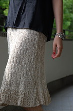1970s Crochet  hand knitting skirt