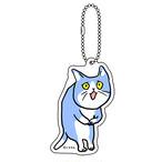 「これからしかられるネコ」アクリルキーホルダー(ブルー)