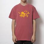 紅布花柄ロゴ クリムゾン
