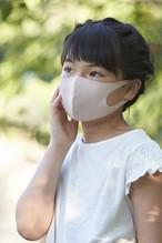 夏用マスク さらピッタ SSサイズ (お子様むけ)無地2枚セット 接触冷感・UVカット・吸汗速乾 #108