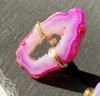 Druzy ring PINK