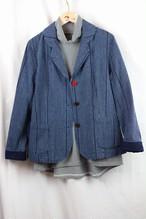 LLサイズのジャケット  JK 01 藍染縞柄(K6)