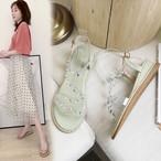 【shoes】フェアリー注目の新作ラインストーンチャーミングサンダル
