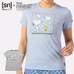 [sn] super.natural スーパーナチュラル ウィメンズ/レディース W Vintage Snoopy & Woodstock  TEE レディース 半袖 スヌーピー ウッドストック Tシャツ メリノウール K36(スカイウェイメランジ) 965(アッシュメランジ)SNWJ00006