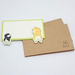 【しばんばん】封筒付きメッセージカード「ふりりっぽ」【55747】
