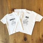 2人兄弟姉妹でおそろい /ハンバ ーガー SMALL×BIG プリント/ T シャツ2枚組ギフトセット #出産祝い #プレゼント