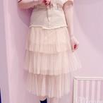 【ManonMimie】デニムチュールスカート