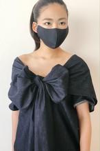 立体|総シルク大島紬マスク【極軽】