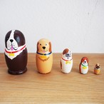 【ロシア】 動物さんマトリョーシカ 「わんこ大集合 セントバーナード」 5P 10.5cm