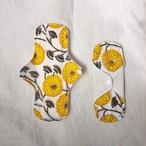 オーガニックコットン布ナプキン 'Block Print Yellow'