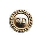 【VINTAGE Christian Dior BUTTON】アンティークゴールド フレームロゴ ボタン 14mm